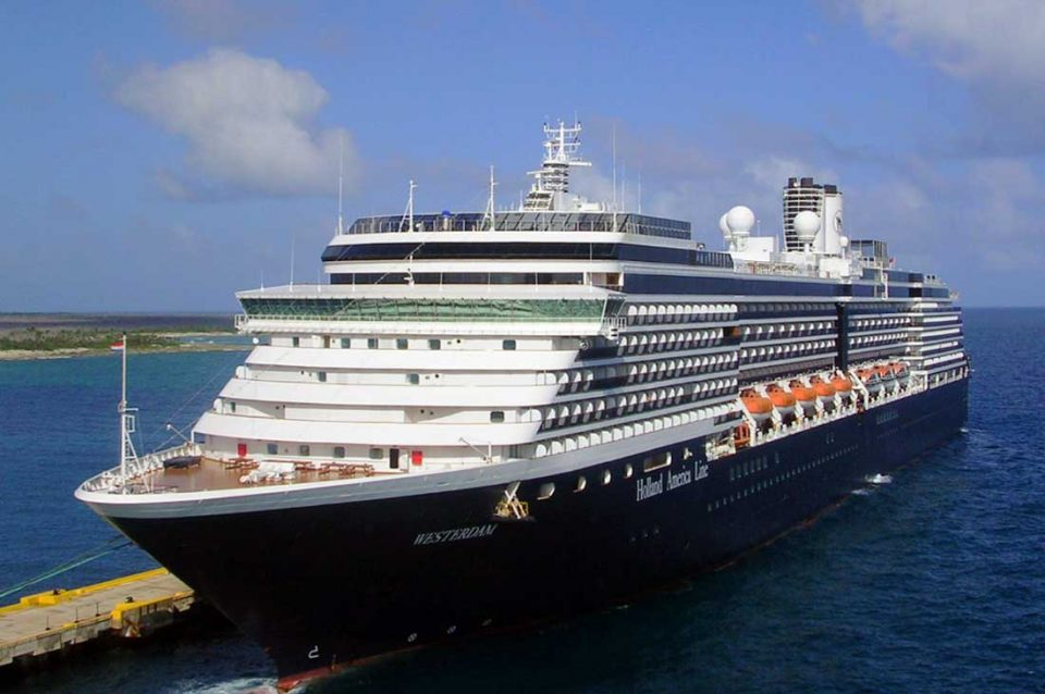 A CRUISE SHIP REJECTED THE PERMIT TO DOCK BY 5 COUNTRIES DUE TO A CORONAVIRUS SCARE