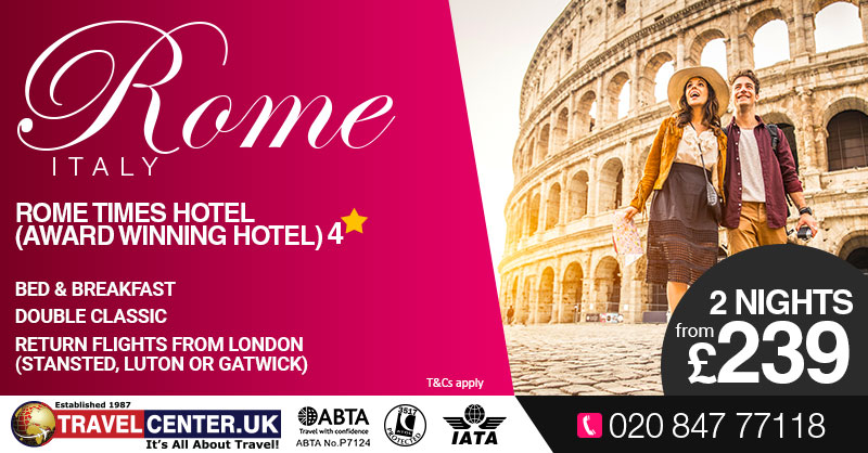 TCUK Blog - Valentines day - Rome, Italy - (2nghts) - Rome Times Hotel 4* from £239