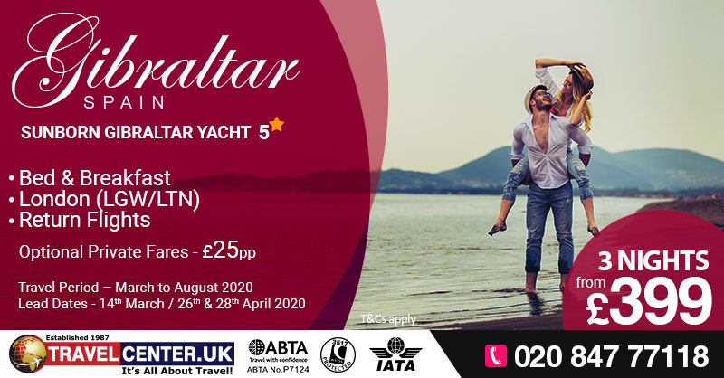 TCUK Blog - Valentines day - Gibraltar, Spain - (3nghts) - Sunborn Gibraltar Yacht 5* from £399