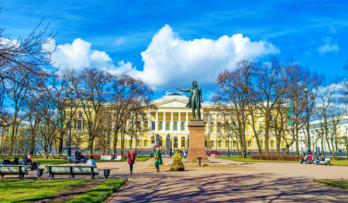 Cities to visit in 2021 - The monument to Alexander Pushkin in St Petersburg Russia