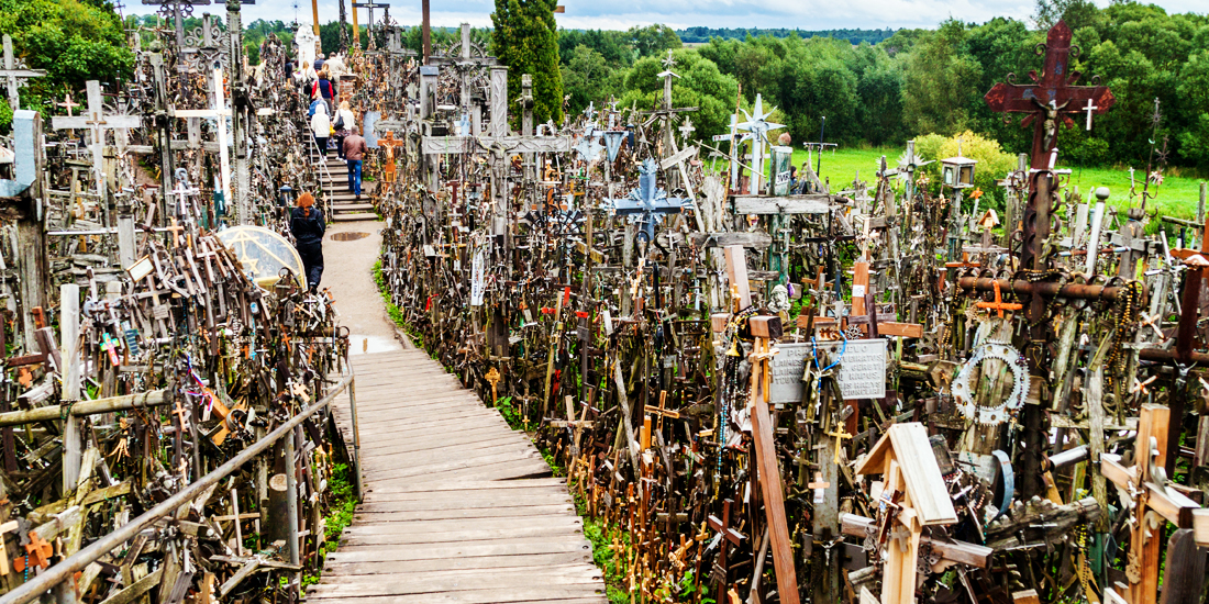 scariest places on earth - Hill of Crosses